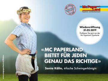 Wiedereröffnung Mc PaperLand im Shoppyland 31.5.2019